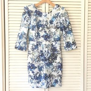 🆕 Blue Floral Dress Small Petite Classy Office